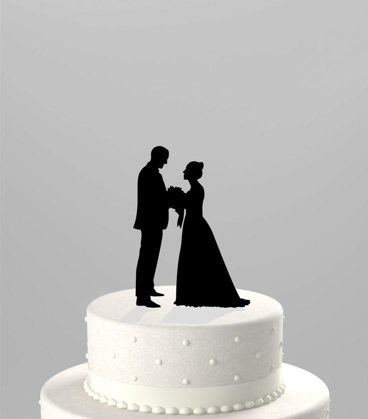 Use Your Photo To Create A Custom Silhouette Wedding Cake Topper Personalized From Your Own