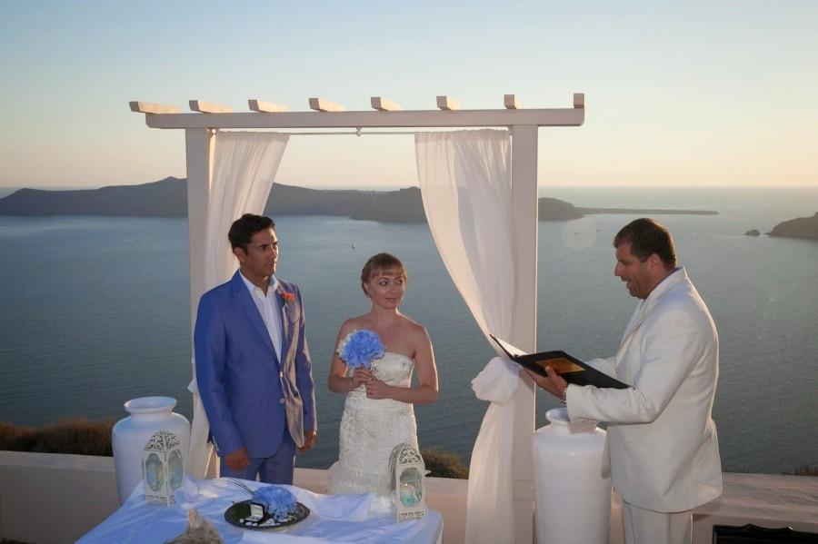 Wedding - MarryMe in Greece: American - Russian love finds happy end with an elegant wedding in Santorini