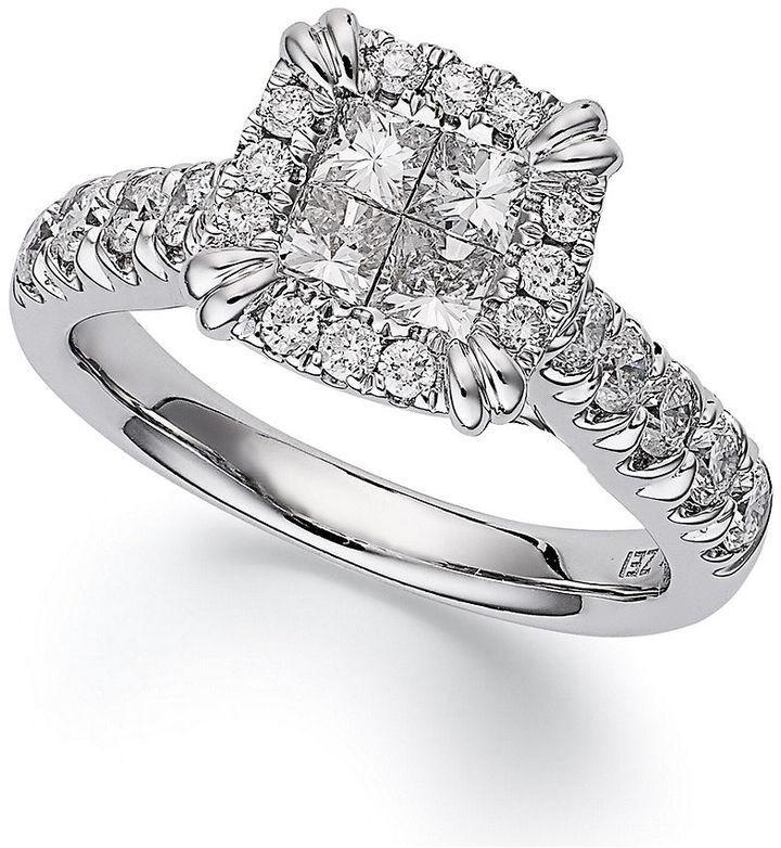 princess treasures ring 14k white gold princess