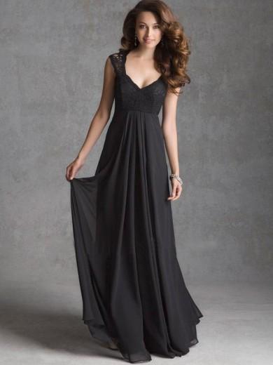 chiffon floor dress