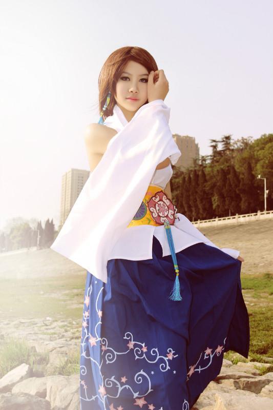 Hochzeit - Final Fantasy Yuna Cosplay Costume