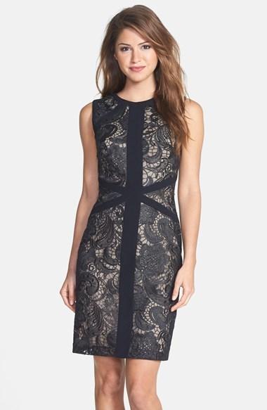 Wedding - ML Monique Lhuillier Lace Sheath Dress