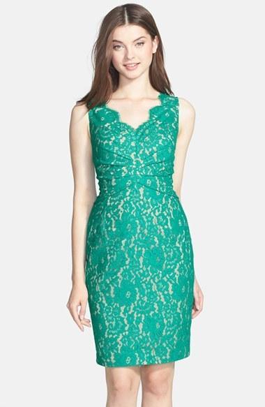 Wedding - Eliza J Sleeveless Lace Dress