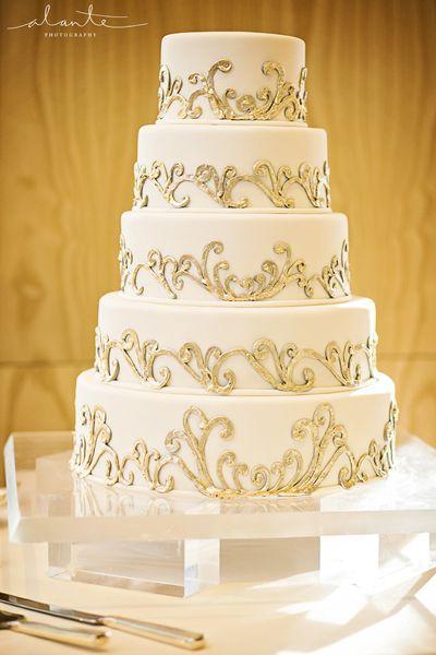 Gold Wedding - White & Gold Wedding Cakes #2173048 - Weddbook