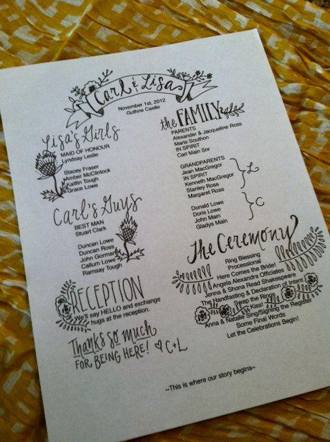 Mariage - Custom Wedding Programs