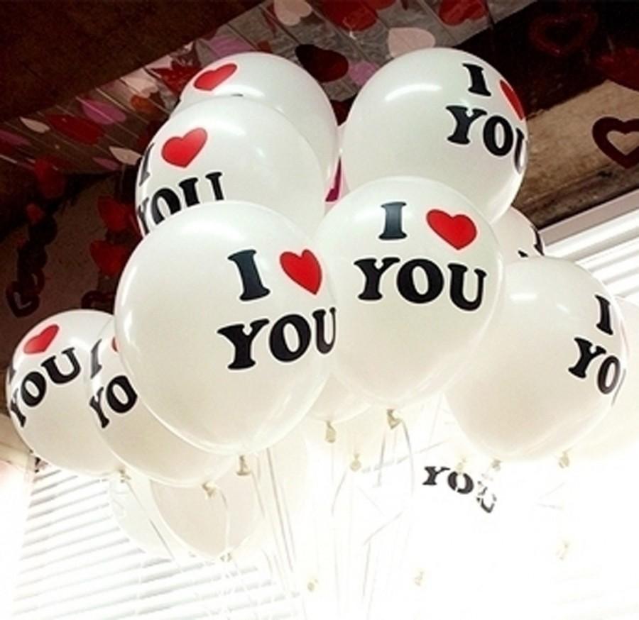 Mariage - 12 inch party wedding decorative Latex balloon  Creative balloon I LOVE YOU