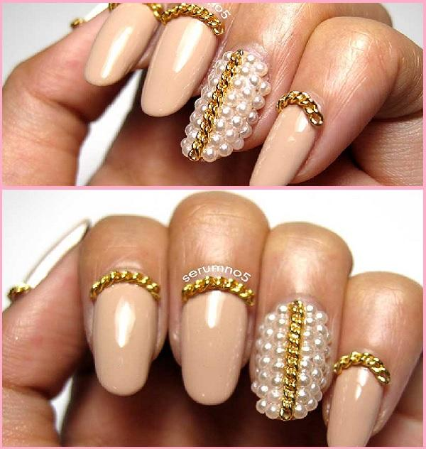 Lady girl trendy cool goldsilver tone nail art tips diy lady girl trendy cool goldsilver tone nail art tips diy decoration chain prinsesfo Images