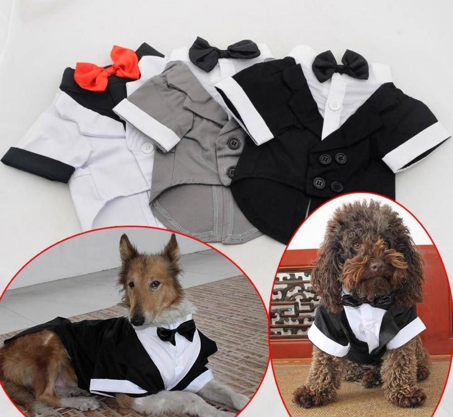 Mariage - Pet Clothing Small Large Big Dog Wedding Costume Western tuxedo Jacket W Bow tie