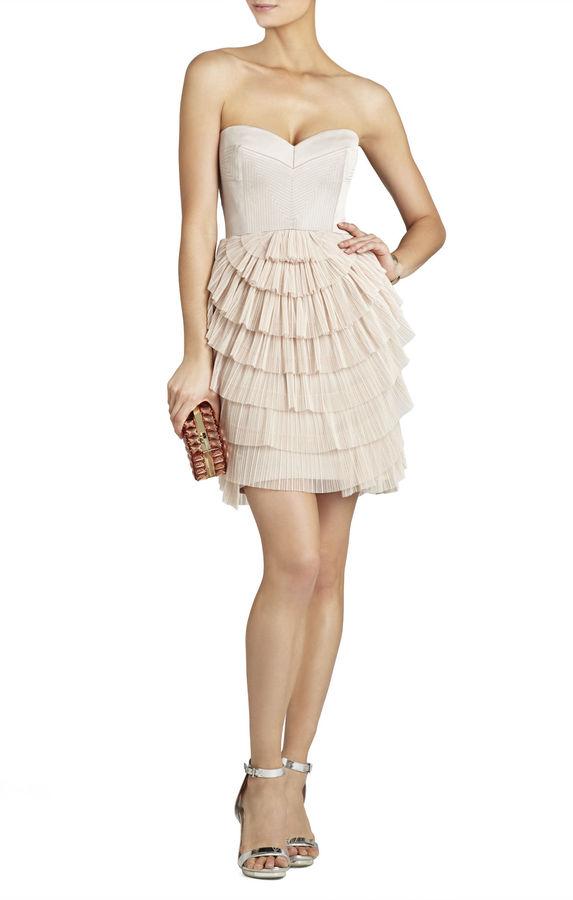 Mariage - Sas Strapless Pleated-Skirt Dress