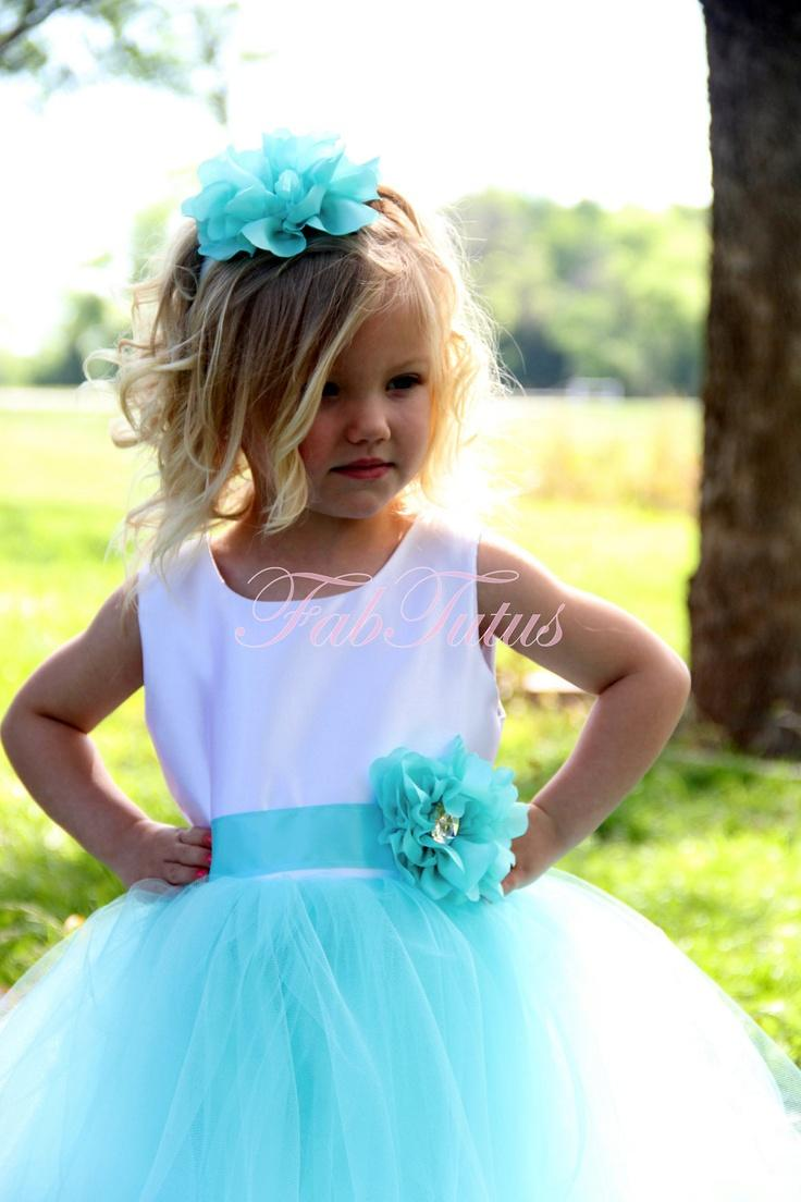 Couture Tiffany Blue Flower Girl Special Occasion Tutu Dress By