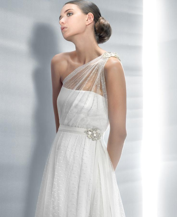 Wedding - One Shoulder Strap Wedding Dress Inspiration