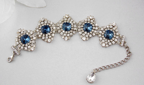 Bridal Bracelet Wedding Bracelet Art Deco Bracelet Bridal
