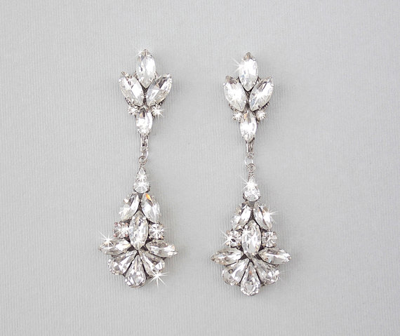 wedding earrings chandelier bridal earrings vintage