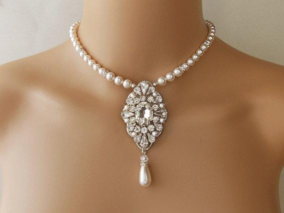 Bridal Necklace Pearl Necklace Wedding Necklace