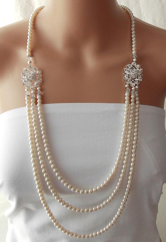 Gatsby Necklace, Wedding Necklace,1920's, Bridal Necklace ...