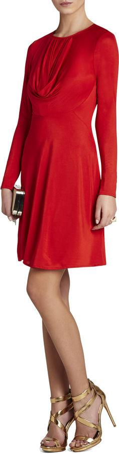 Hochzeit - Sam Long-Sleeve Draped Dress