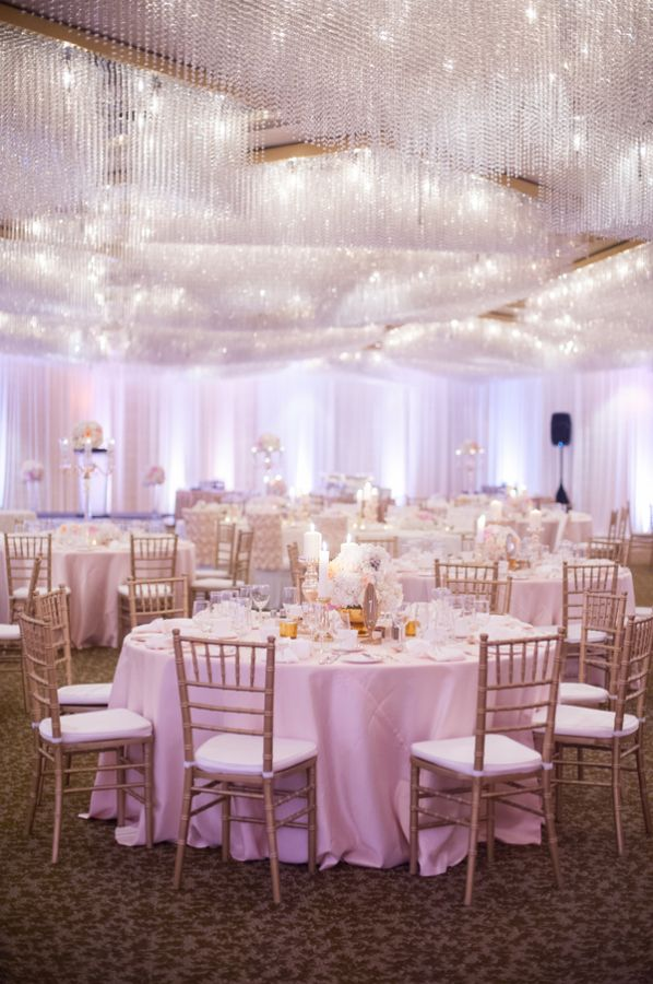 Mariage - Gold And Pink Ballroom Reception