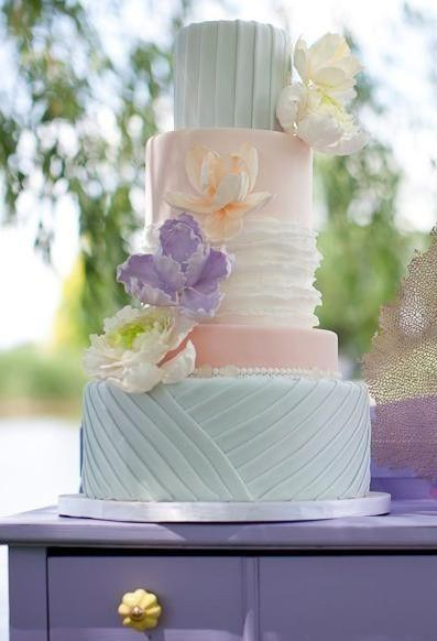 Pastel Wedding Pretty Pastel Cake 2175809 Weddbook