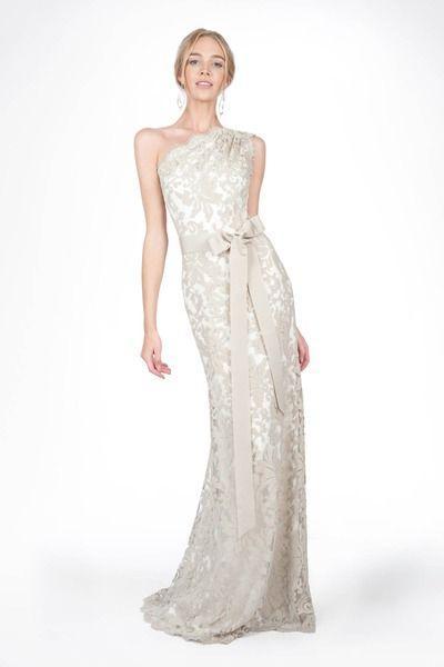 Свадьба - One Shoulder Strap Wedding Dress Inspiration