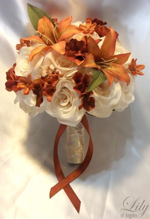 Centerpiece Wedding Table Decoration Center Flower Vase Silk FALL