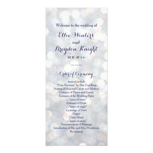 Свадьба - Sparkling Lights Wedding Program