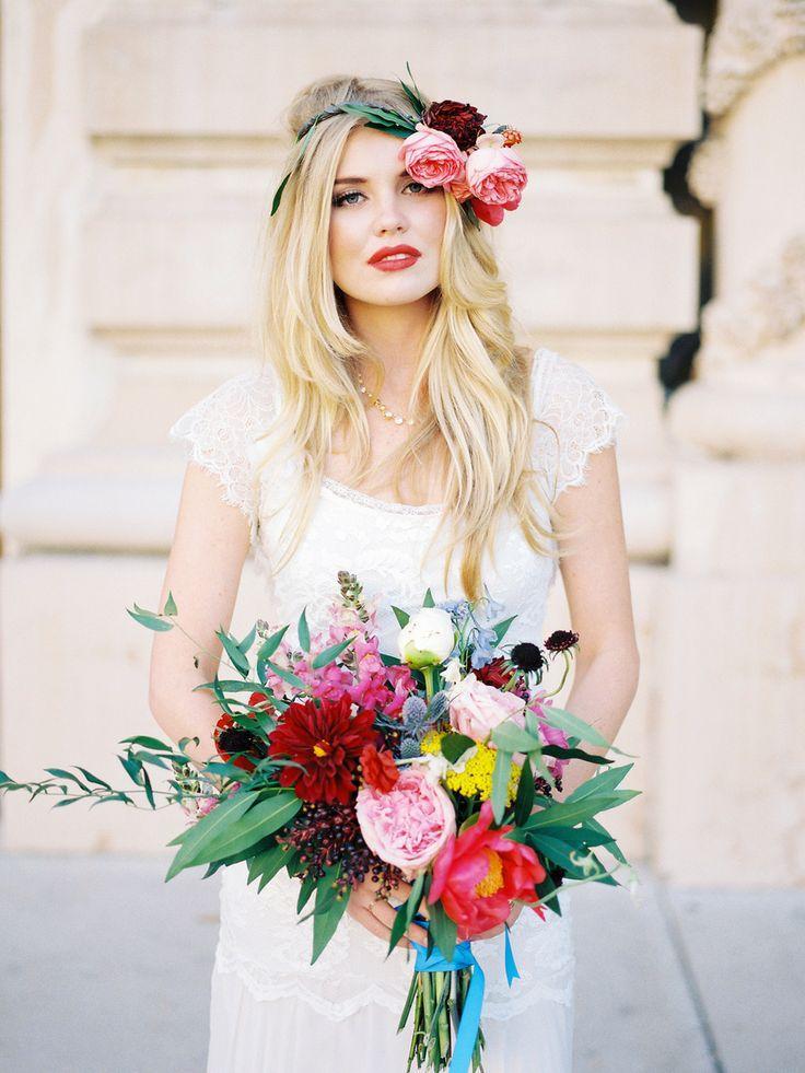 Mariage - Jewel Tone Inspiration Shoot From Chelsea Scanlan   Bon Wed