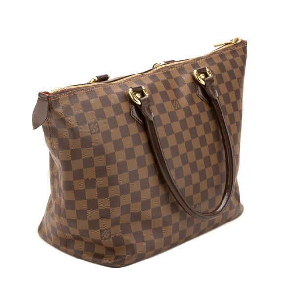 100% Authentic Louis Vuitton Brown MM Damier Ebene Check Bag ... 76ebd75447f31