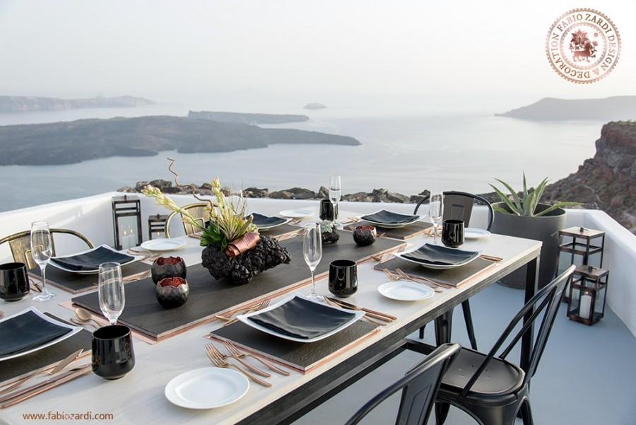 Свадьба - Private dinner in Santorini