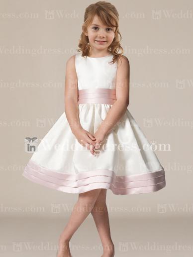 Wedding - Knee Length Flower Girl Dress