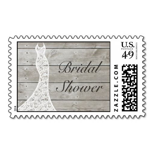 beautiful rustic bridal shower stamp