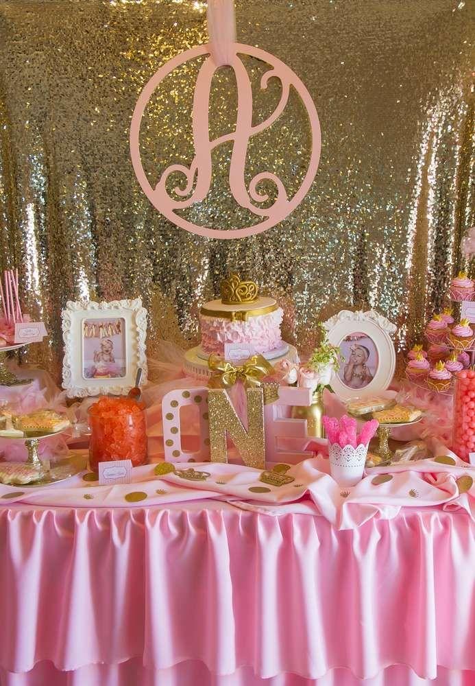 Bridal Shower Pink And Gold Birthday Party Ideas 2178108 Weddbook