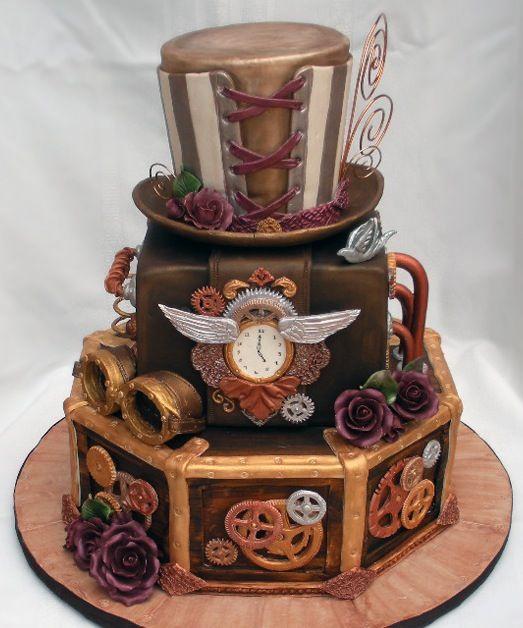hochzeitstorten amazing steampunk cake picture. Black Bedroom Furniture Sets. Home Design Ideas