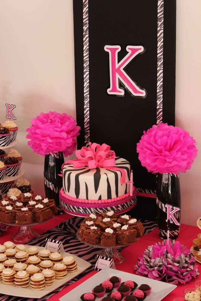 Birthday decorations zebra print image inspiration of for Animal print party decoration ideas