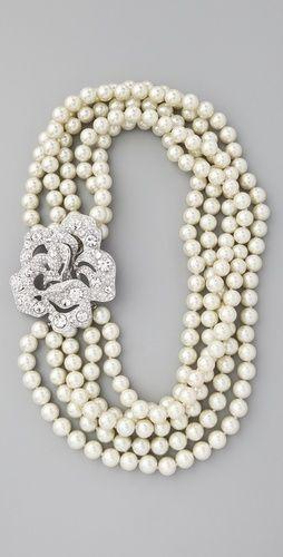 Hochzeit - Pearl & Crystal Necklace