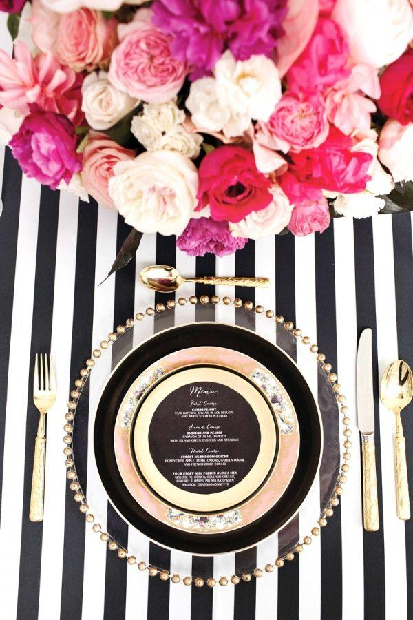 Wedding - Chic & Modern Black And White Wedding Inspiration With Brilliant Fuchsia