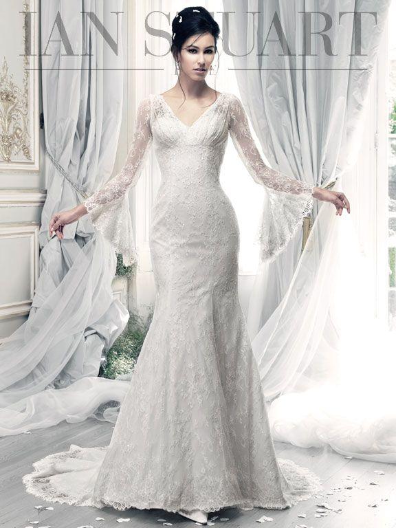 Свадьба - Long Sleeved & 3/4 Length Sleeve Wedding Gown Inspiration