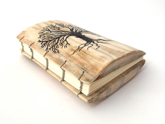 Wedding - Rustic WEDDING GUEST BOOK - personalized with your names and date - Coptic Binding - Truly Unique