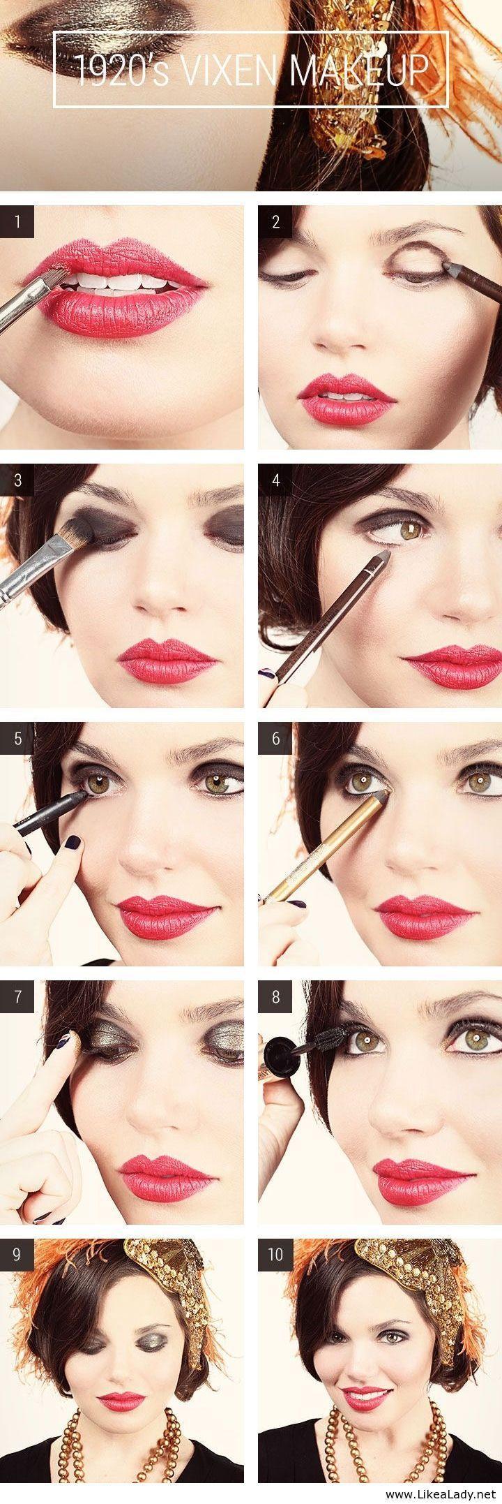 Свадьба - Halloween How-To: Sexy '20s Flapper Girl Makeup