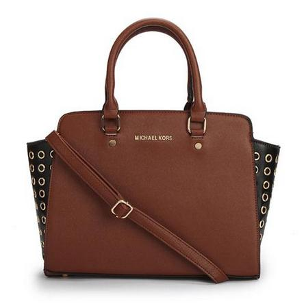 Свадьба - Michael Kors Selma Top-Zip Grommet Large Coffee Satchels