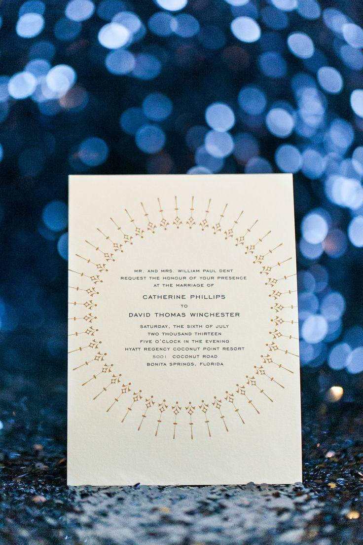 Mariage - Invitation Paper Gold