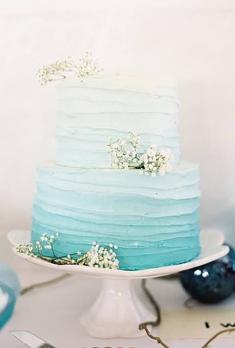Tiffany Blue Wedding Beach Themed Wedding Cakes 2180731 Weddbook