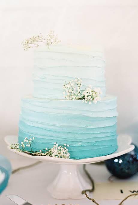 Tiffany Blue Wedding - Beach Themed Wedding Cakes #2180731 - Weddbook