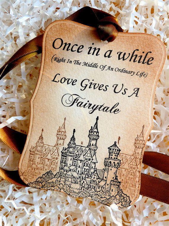 Свадьба - Fairytale Love Luxury Wedding Favor Wish Tree Tags Vintage Style Set Of Five