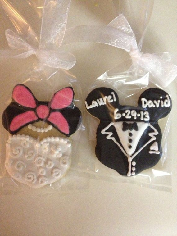 Mickey And Minnie Mouse Wedding Cookie Favors #2180810 - Weddbook