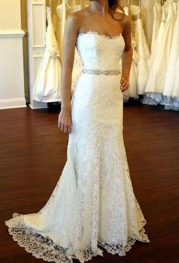 Gorgeous Lace Gown Bridal Dress Country Wedding Vintage Bohemian