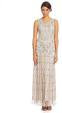 43d5a7fdf7b Pisarro Nights Floral Beaded Drop-Waist Gown  2181824 - Weddbook