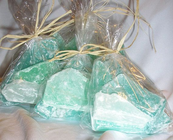 Wedding - Beach Favors Sea Glass Soap Ocean Scent Party Favors Beach Themed Wedding X 24