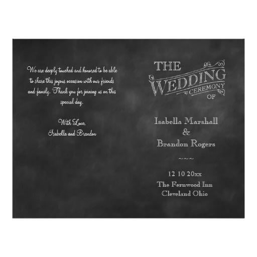Wedding - Chalkboard Wedding Program