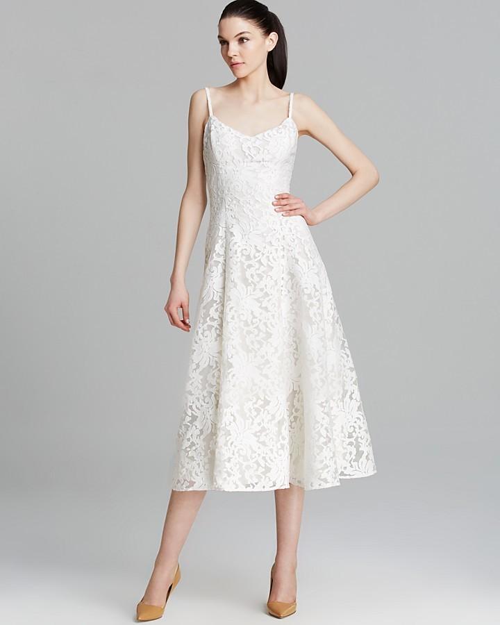 Vera Dress Sleeveless Lace A Line Skirt