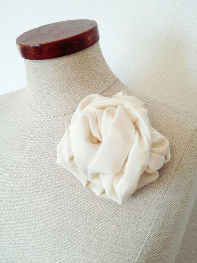 Mariage - Stoffbrosche, cremé